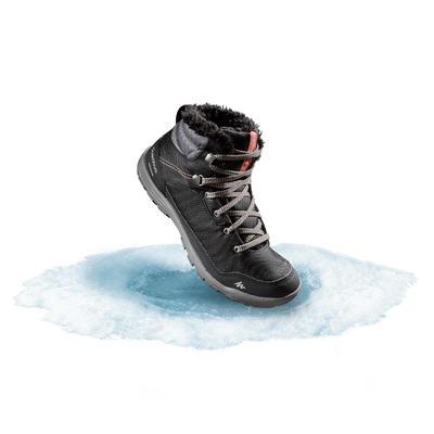 Botas cálidas impermeables senderismo nieve - SH100 WARM - Media caña Mujer