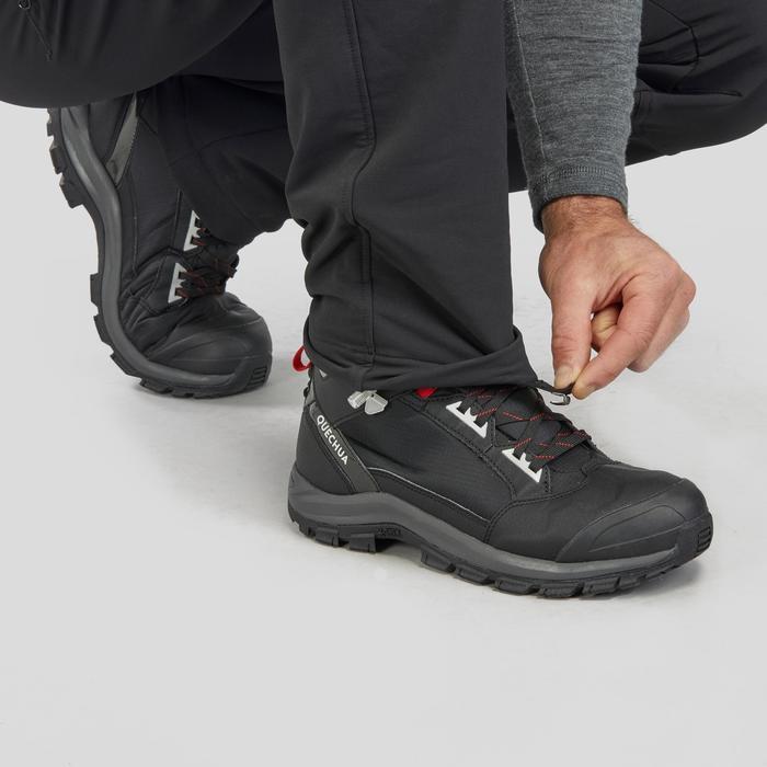 Softshellhose Winterwandern SH500 Extra-Warm Herren schwarz