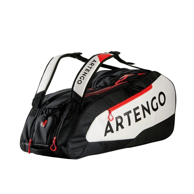 Geantă pentru 9 rachete Tenis 930 L Negru-Alb-Roșu