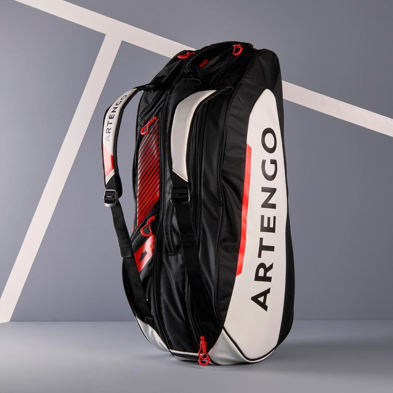 กระเป๋าเทนนิสรุ่น 930 L (สีดำ/ขาว/แดง)
