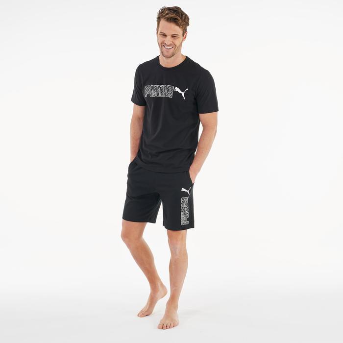 T-Shirt Logo Pilates sanfte Gymnastik Herren schwarz