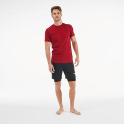T-Shirt Active Herren bordeaux