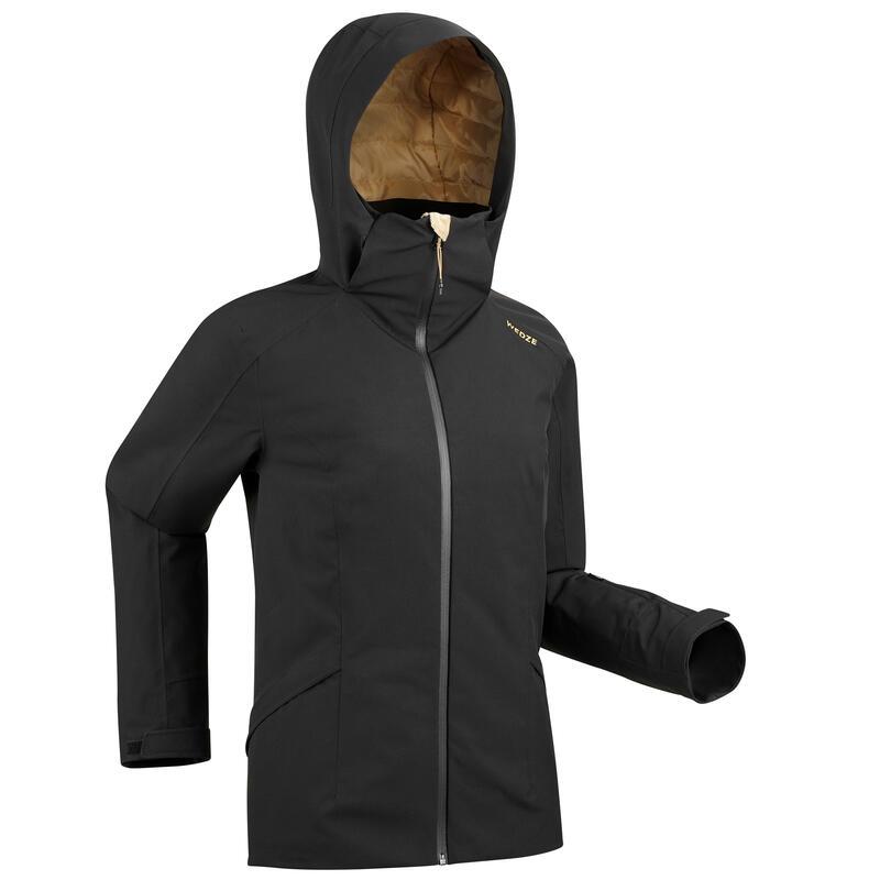 Kadın Kayak Montu - Siyah - SKI-P 500