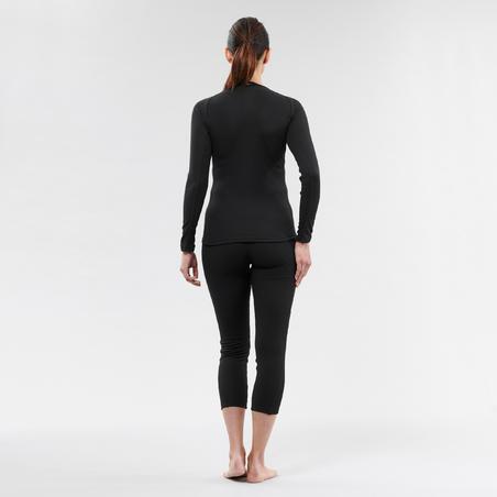 Women's base layer ski top 100 - Black