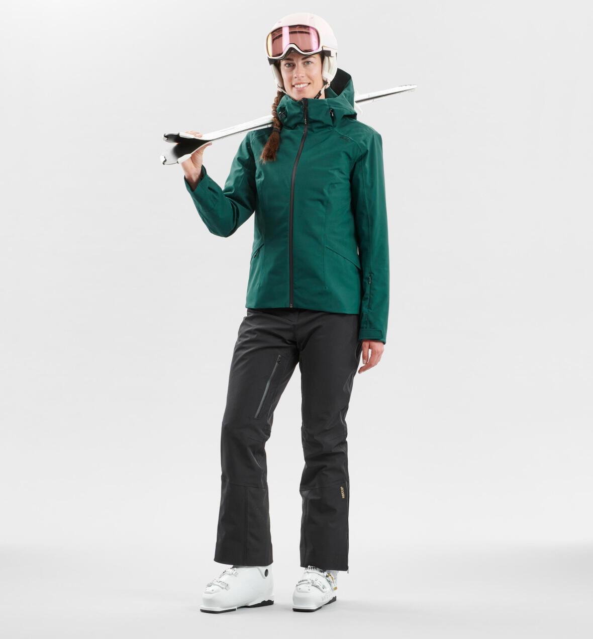 Downhill skiing jacket and pants