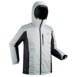 男款滑雪外套180 - 灰色與黑色