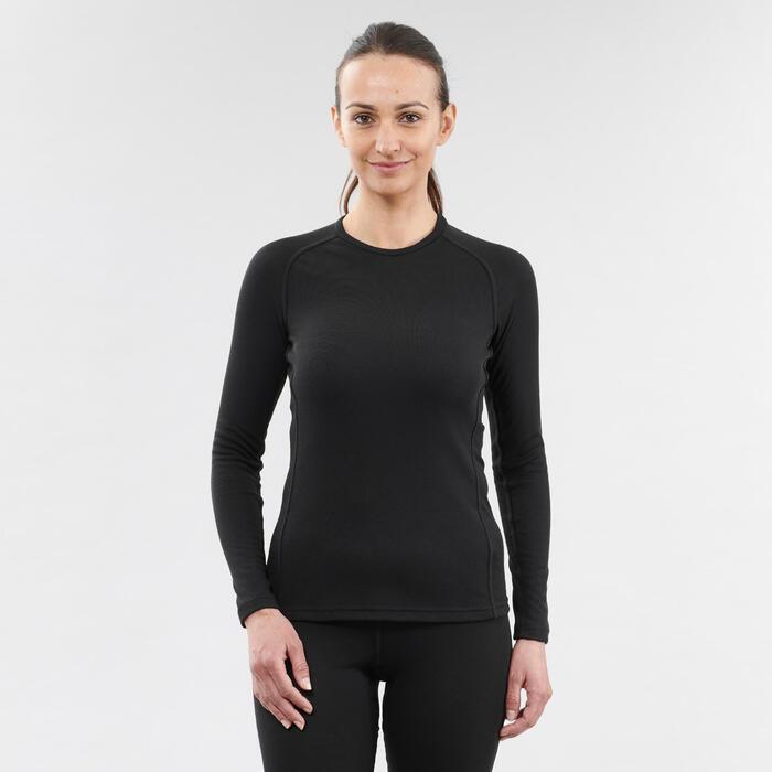 Thermoshirt voor skiën dames 100 zwart