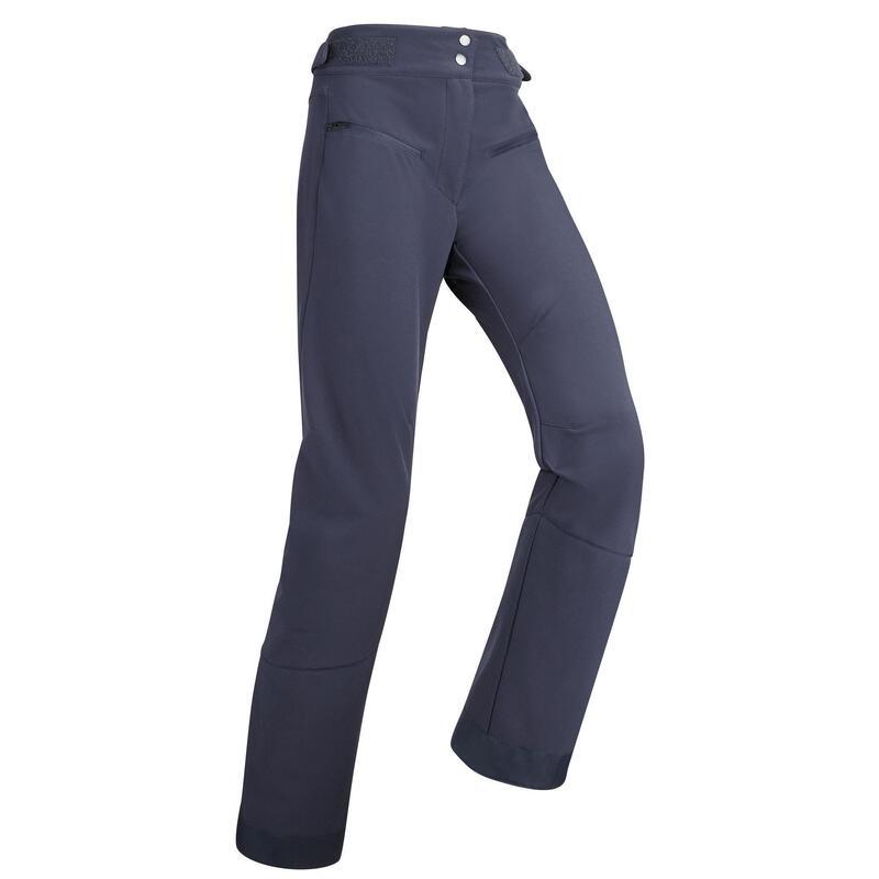 Pantalones de Esquí y Nieve Mujer Wedze Ski Pste 500 Azul Marino