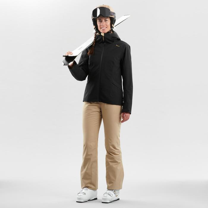 Winterjas dames ski waterdicht 500 skijas zwart