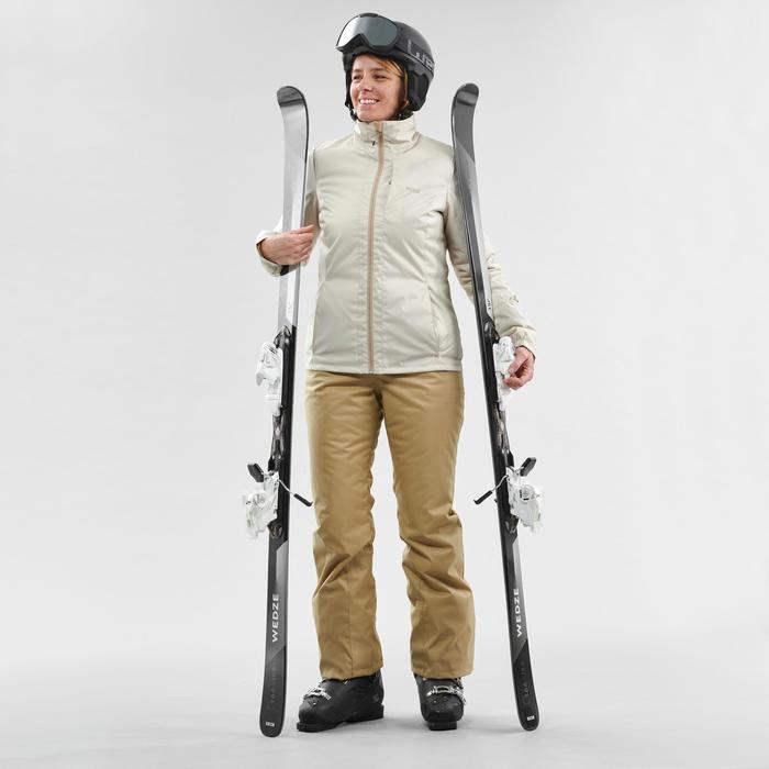 Ski-jas voor dames 100 beige