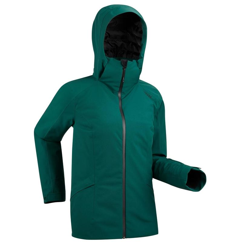 Women's Warm Ski Jacket 500 Green