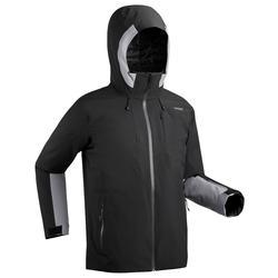 男款下坡滑雪外套500 - 黑色