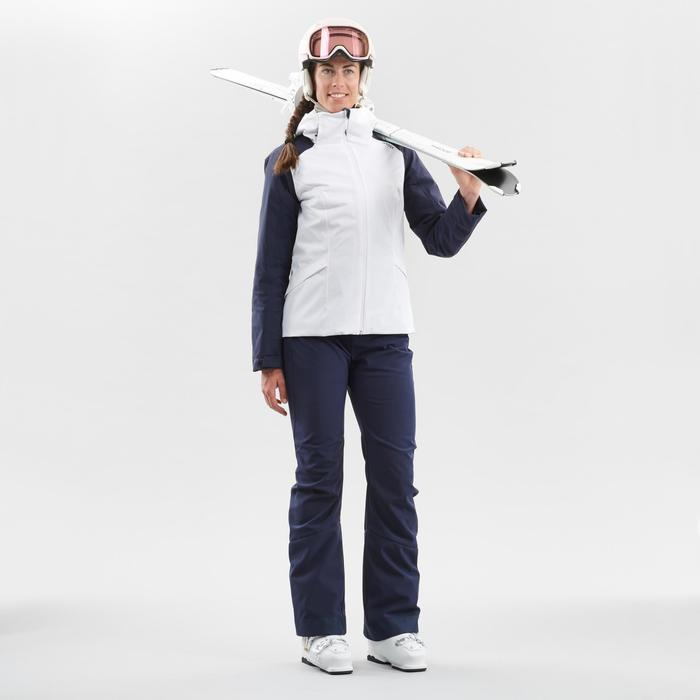 Skibroek voor pisteskiën dames 500 marineblauw