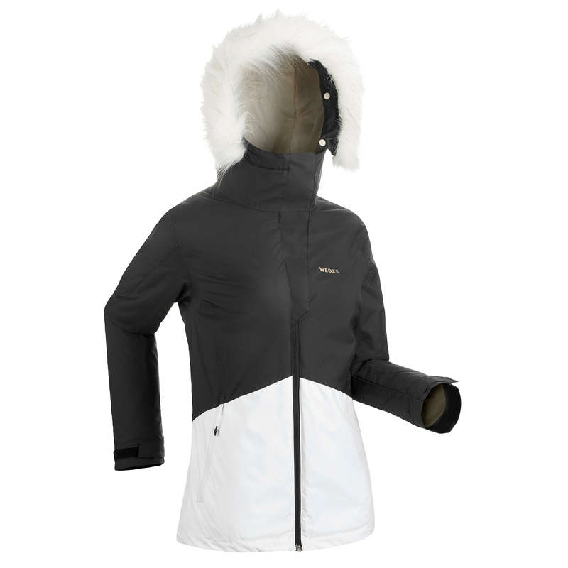 WOMEN'S CLOTHING BEGINNER SKIERS Clothing - W D-SKI JACKET 180 - BLK WEDZE - Jackets and Coats