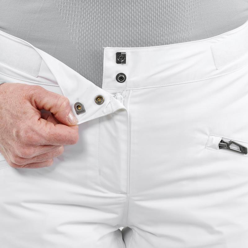 กางเกงขายาวสำหรับผู้หญิงใส่เล่นสกีรุ่น 180 (สีขาว)