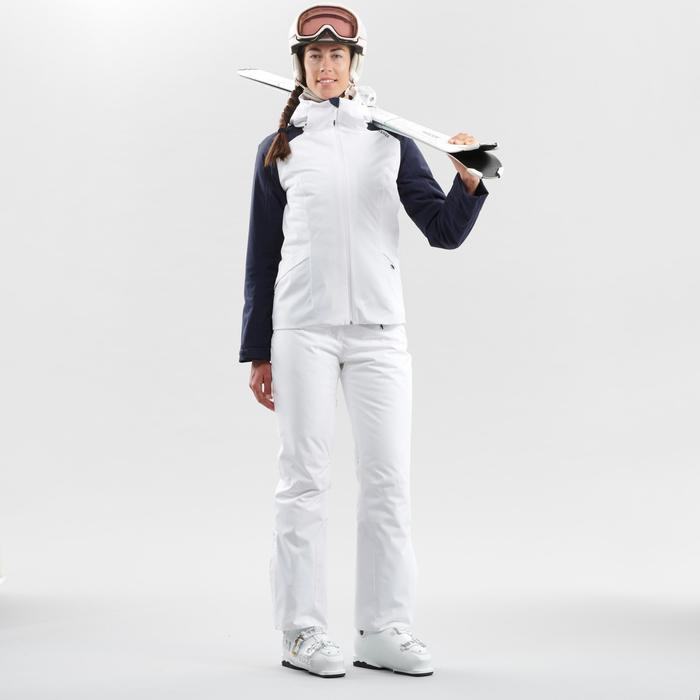 女款下坡滑雪外套500 - 白色