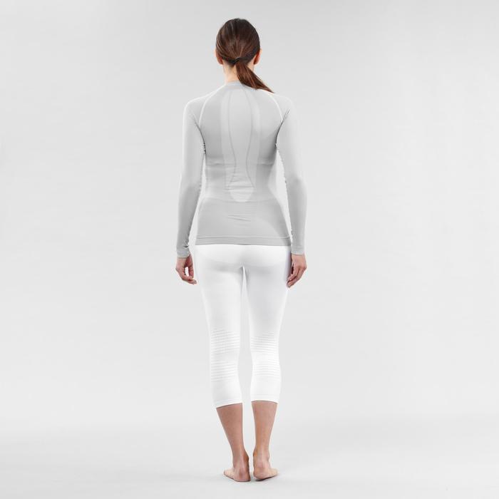 Camiseta térmica Esquí y Snow interior Wed'ze iSoft Mujer Gris