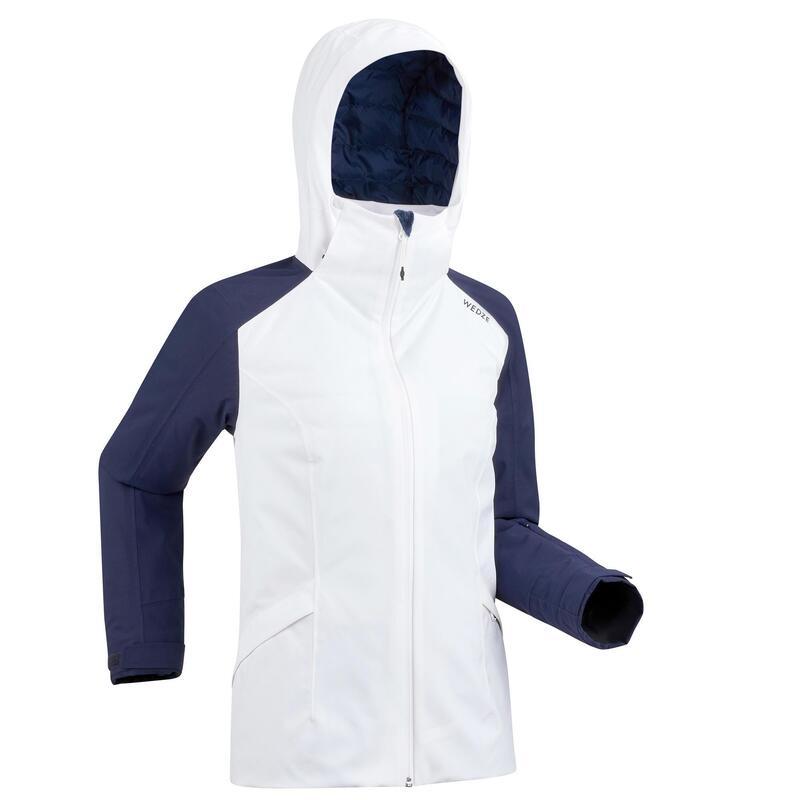 Kadın Kayak Montu - Beyaz - SKI-P 500