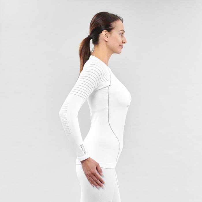 女款底層滑雪上衣900 - 白色