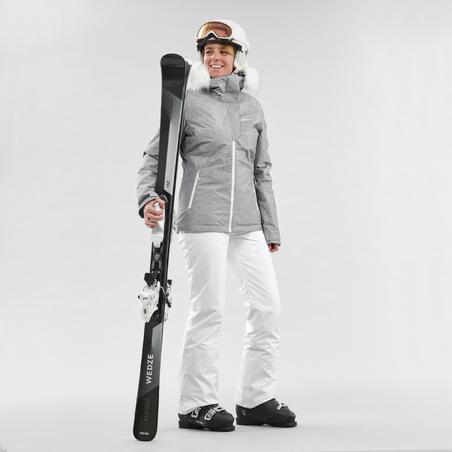 WOMEN'S DOWNHILL SKI PANTS 180 - WHITE
