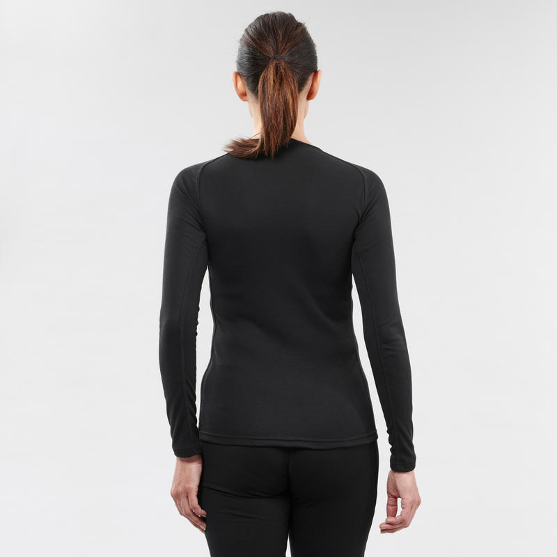 Women's Ski Base Layer Top BL 100 - Black