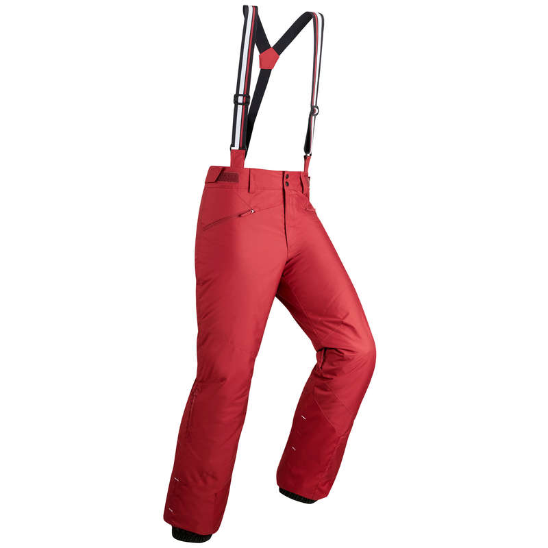 MEN'S JACKETS OR PANTS BEGINNER SKIERS Skiing - M D-SKI Trousers 180-Burgundy WEDZE - Ski Wear