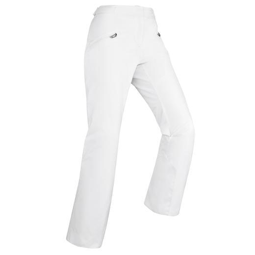 Pantaloni sci donna 180 bianchi
