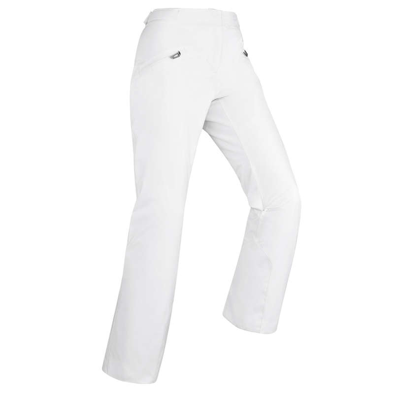 WOMEN'S CLOTHING BEGINNER SKIERS Skiing - W D-SKI Trousers 180 - White WEDZE - Ski Wear