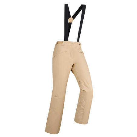 WOMEN'S DOWNHILL SKI TROUSERS 580 - BEIGE