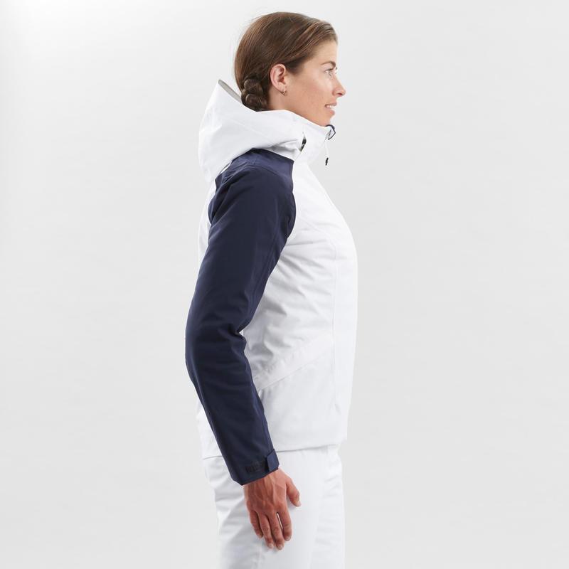 WOMEN'S DOWNHILL SKI JACKET 500 - WHITE