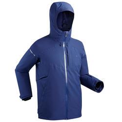 Heren ski jas waterdicht 580 blauw winterjas