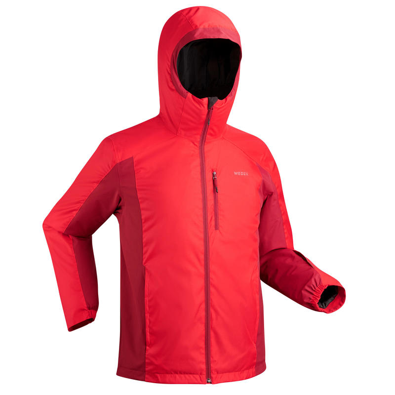 MEN'S D-SKI JACKET 180 - RED AND MAROON