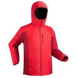 Ski-jas voor pisteskiën heren 180 rood/bordeaux