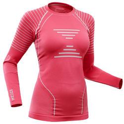 Camiseta térmica Esquí y Nieve Wed'ze 900 Mujer Rosa