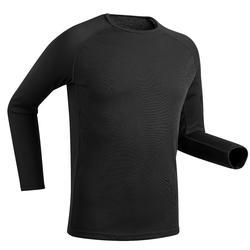 Camiseta Térmica Esquí Interior Wed'ze 100 Simple Warm Hombre Negro