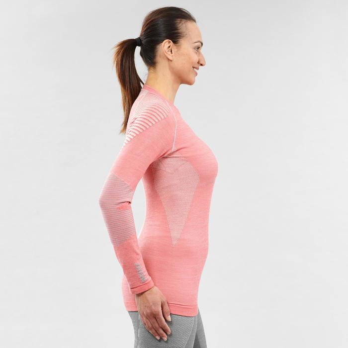 Camiseta térmica Esquí y Nieve Interior Wed'ze 900 XWarm Mujer Rosa