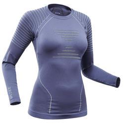 女款滑雪底層上衣900 - 藍色