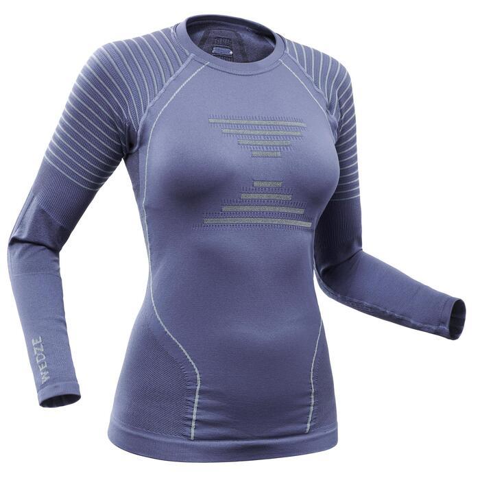 Camisola Térmica de Ski 900 Mulher Azul