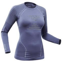 Thermoshirt voor skiën dames 900 blauw