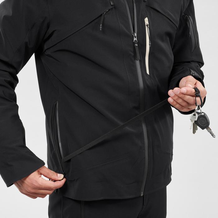 Ski-jas voor pisteskiën heren 980 zwart