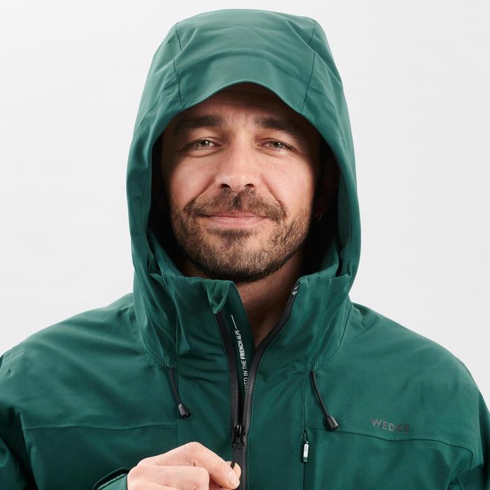 Ski-jas voor pisteskiën heren 500 groen