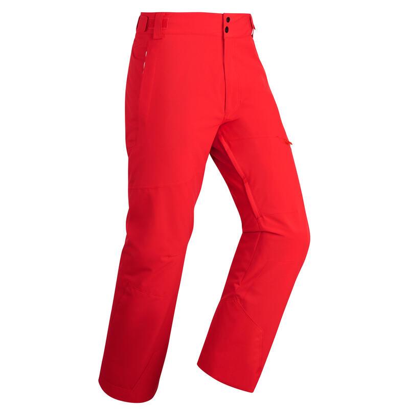 Pantalon schi pe pârtie 500 Roșu Bărbați