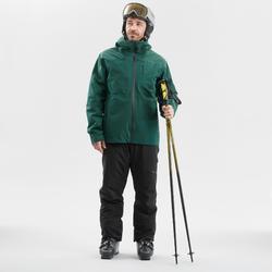 Skijacke Piste 500 Herren grün