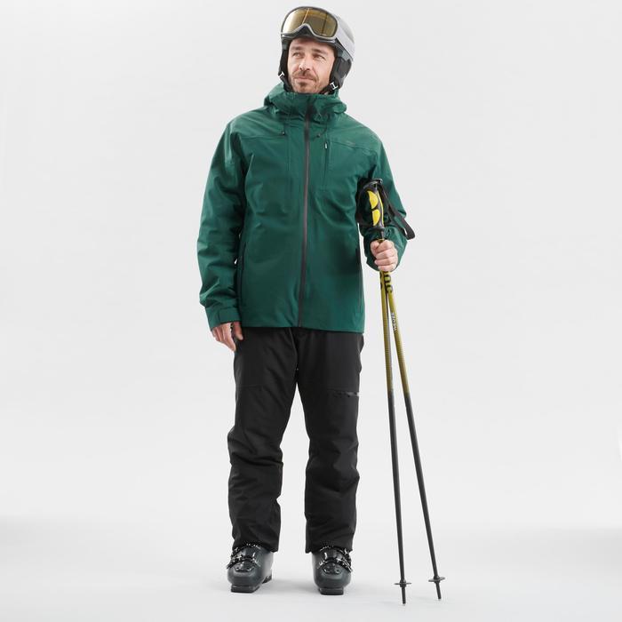 Skijacke Warm 500 Herren grün