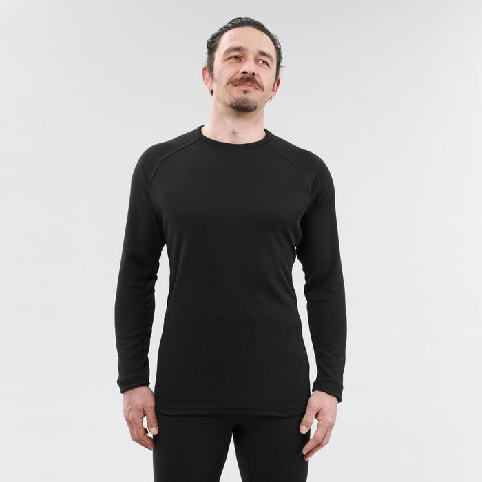 Skiondershirt voor heren 100 zwart