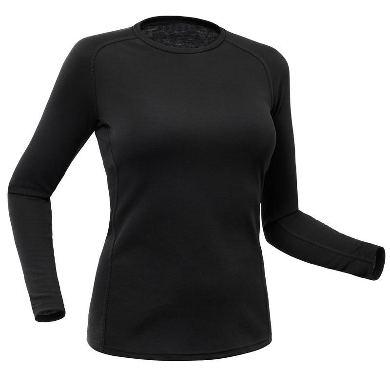 Sous-vêtement de ski femme haut 100 Noir