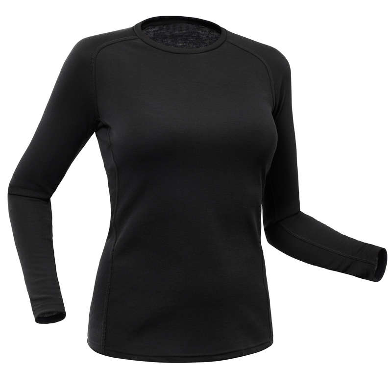 LENJERIE DE CORP SCHI FEMEI Imbracaminte - Bluză schi 100 Damă  WED'ZE - Lenjerie de corp si accesorii