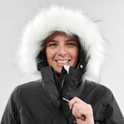 Ski-jas voor pisteskiën dames 180 zwart/wit