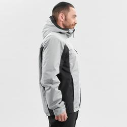 MEN'S DOWNHILL SKI JACKET 180 - GREY AND BLACK