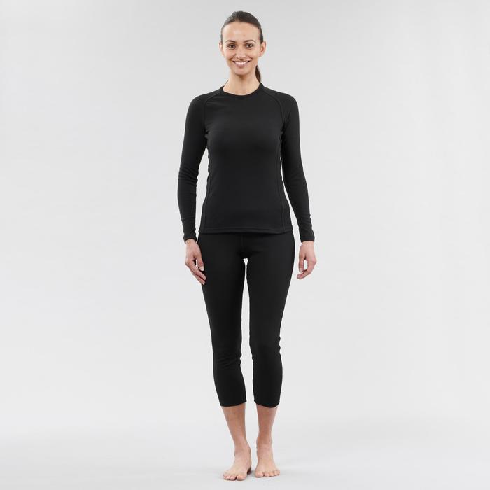Sous-vêtement de ski femme 100 haut noir